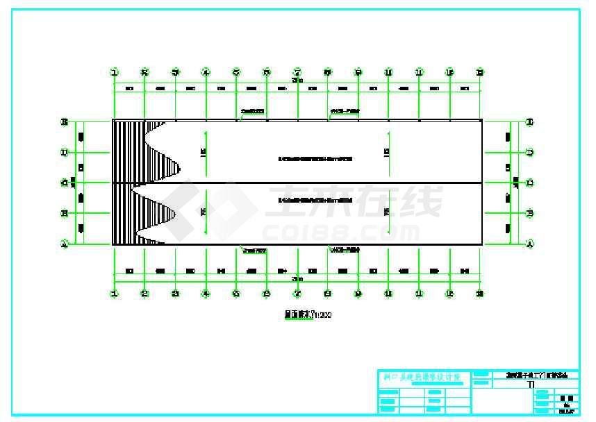 某地工业园车间厂房结构施工图-图3