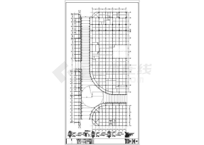 某地步行街屋顶钢结构施工图-图2
