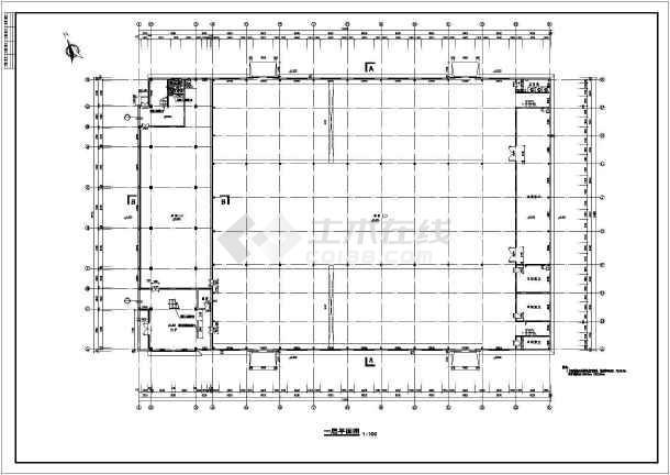 某厂区办公楼加厂房建筑方案cad设计图-图2