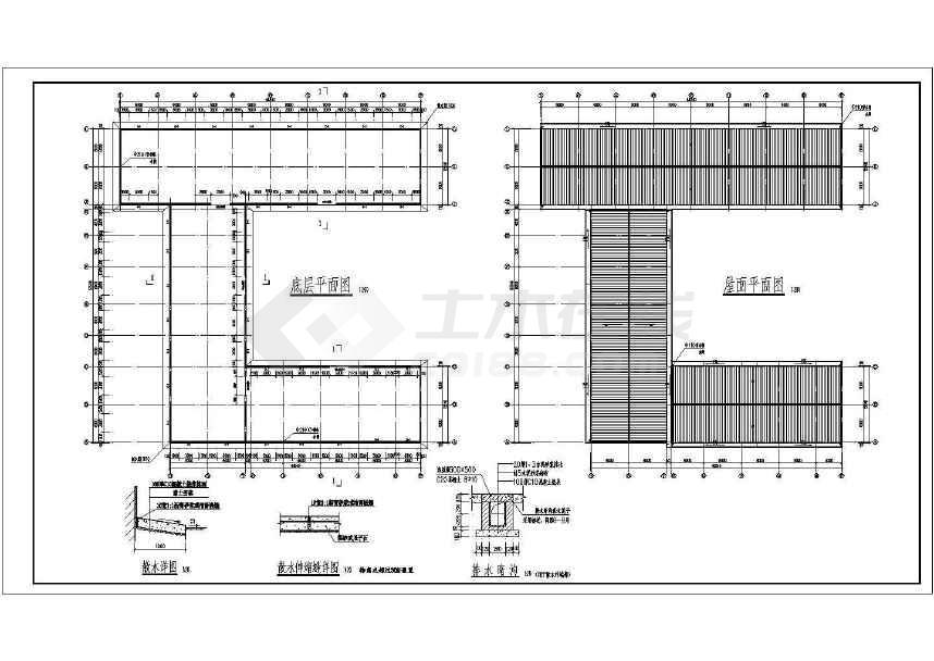 某三角形钢屋架、钢管柱结构施工图-图2