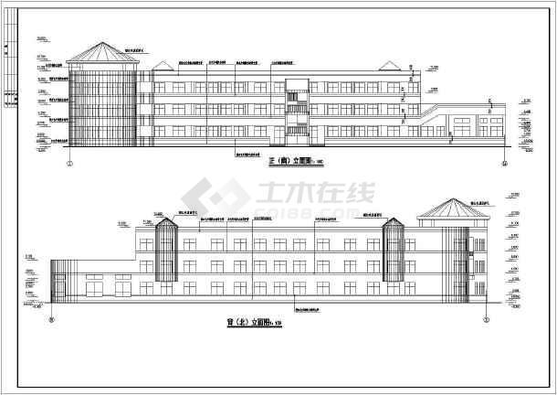 某地幼儿园教学楼建筑全套图-图3