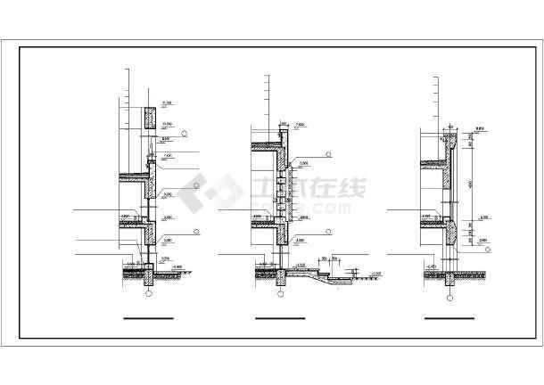 近百种墙身cad装修设计施工图纸-图1