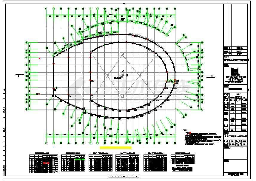 某地体育馆屋盖钢结构施工图-图3