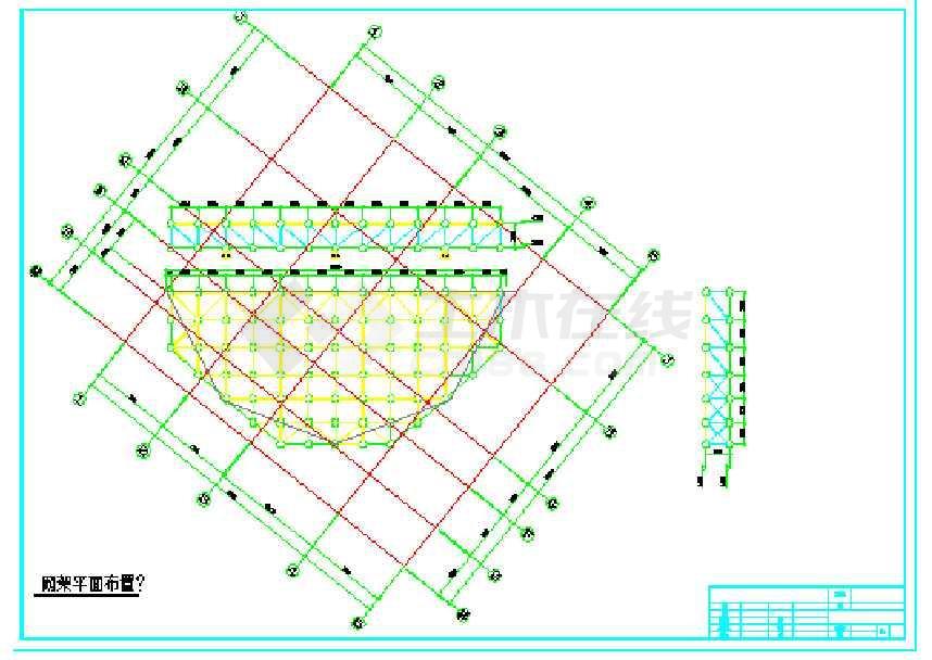 正交正放网架结构施工图-图1