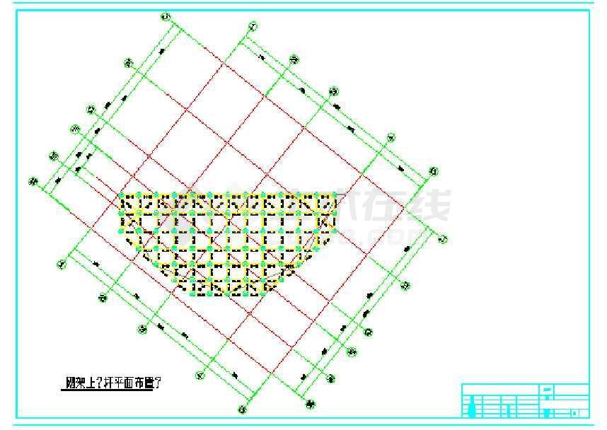 正交正放网架结构施工图-图2