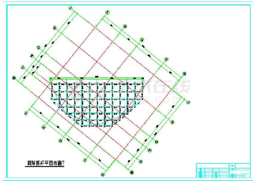 正交正放网架结构施工图-图3