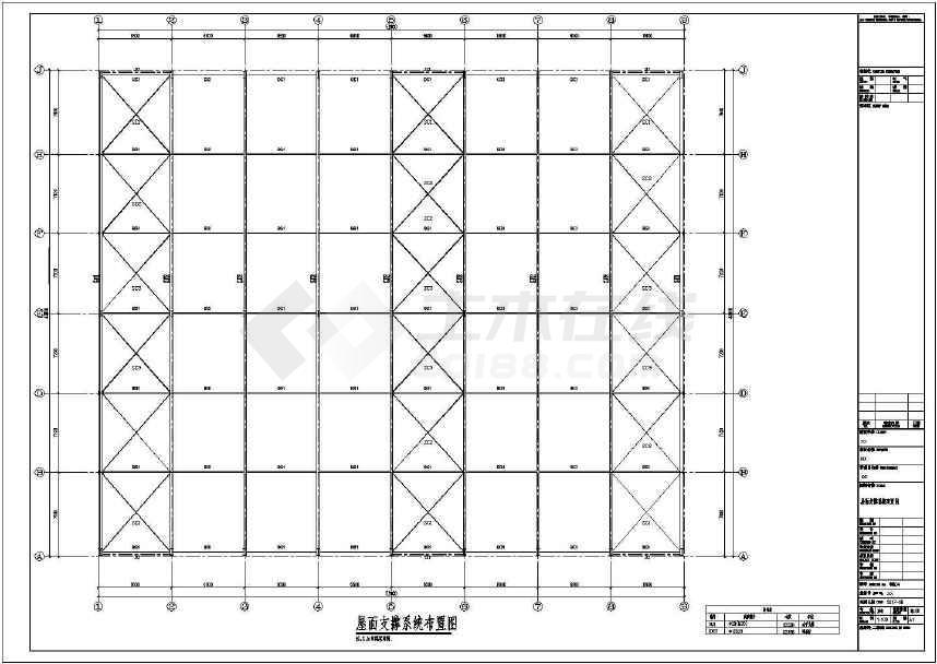 22x2带吊车轻钢厂房结构施工图-图3