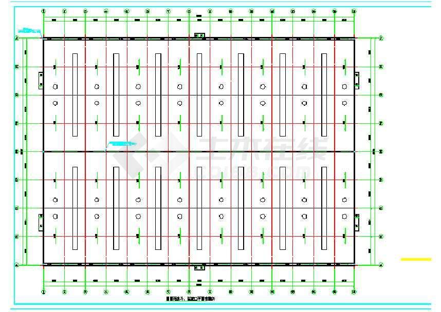 90X66钢结构仓库(建筑、结构、电气、给排水)-图1