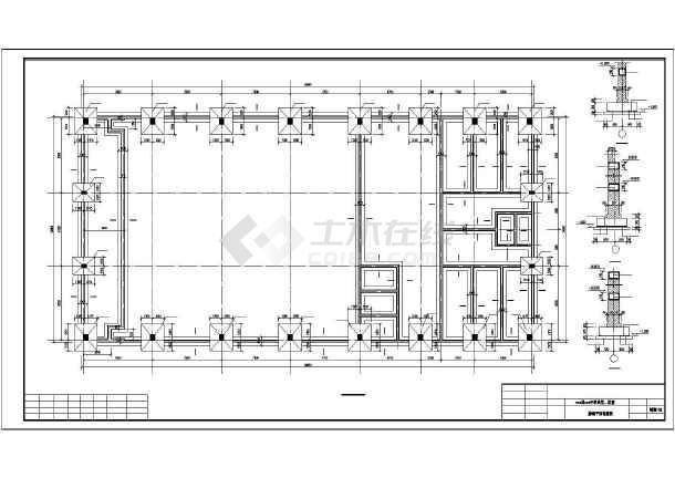 某中学食堂,浴室结构设计图