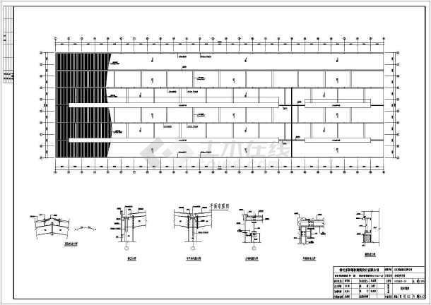 某钢结构造船厂大吨位平台设计一体厂房设计c钢图纸综合吊车图片