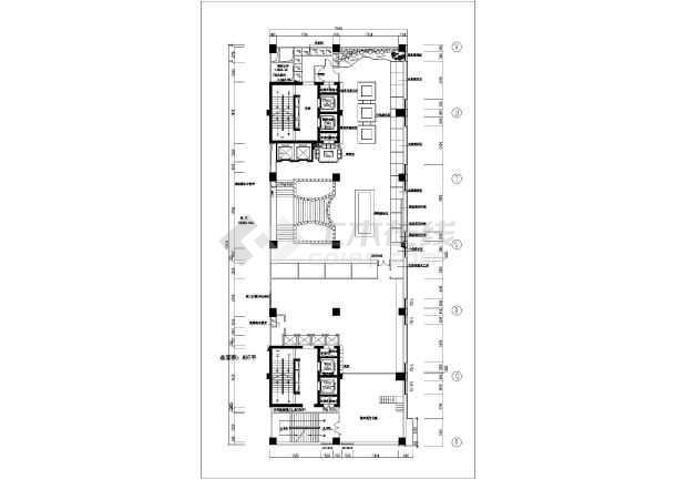快捷酒店整层室内装修设计方案图纸