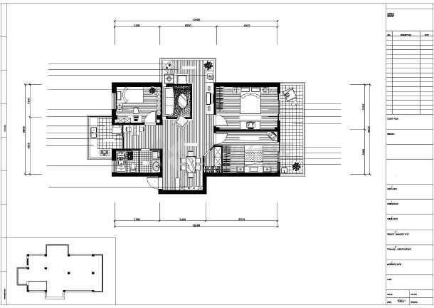 简约型住宅全套装修设计施工图图片