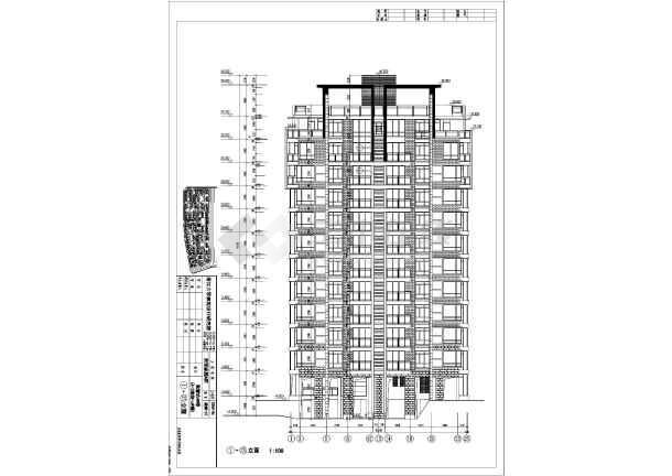 某地小高层住宅楼建筑设计图(共15张)图片