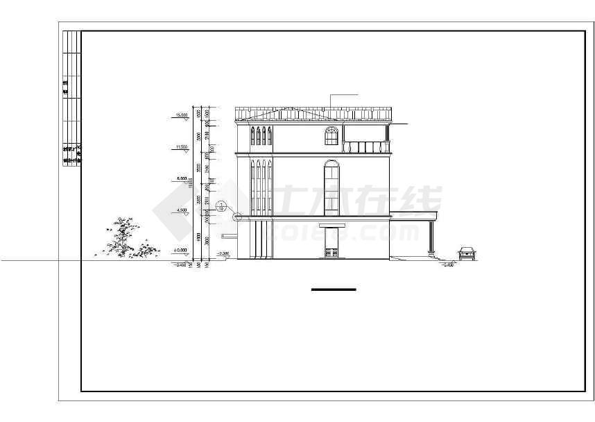 某地欧式综合办公楼建筑设计方案图