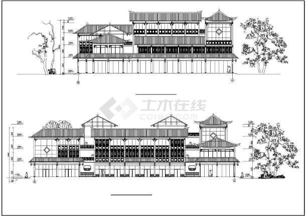 某地民居式客栈初步建筑设计图图片
