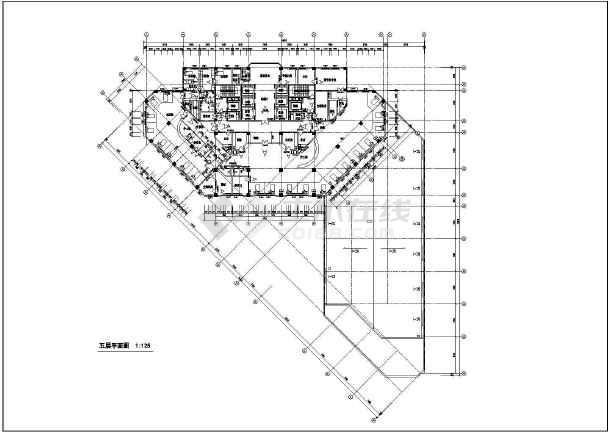 某地方案病房中学楼建筑设计校园人民医院v方案图片