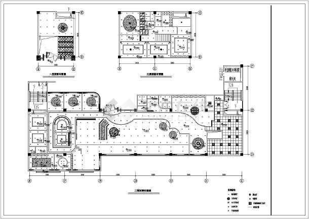 某咖啡厅装修设计cad插件施工图cad全套小396000024图片