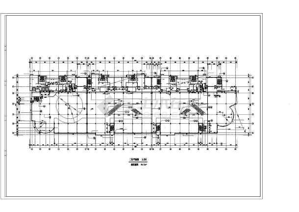 天津某商场全套建筑设计图