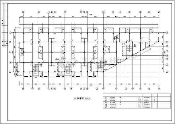 街口转角商住楼建筑设计施工图
