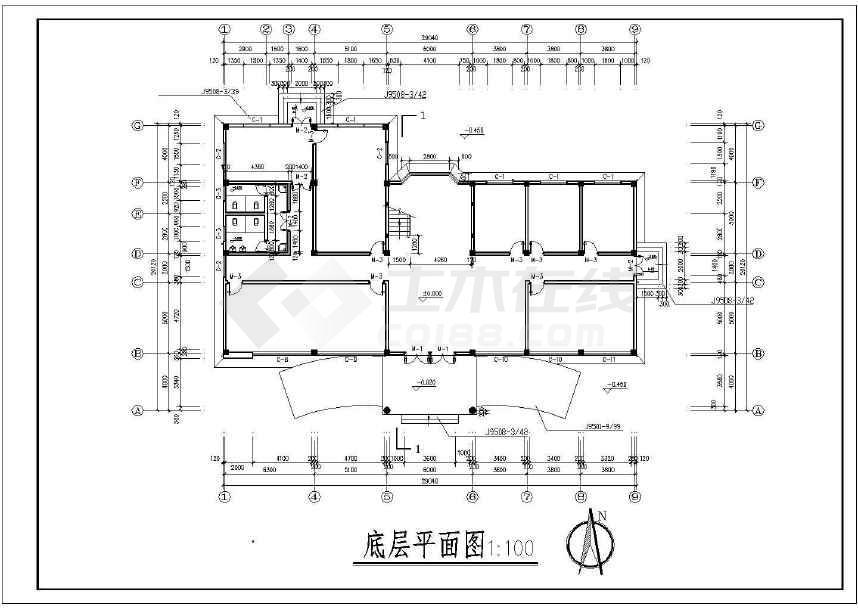 某地三层办公楼建筑结构施工图