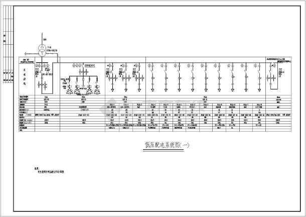 某环卫公寓变配电间及柴油发电机工程电气设计图图片
