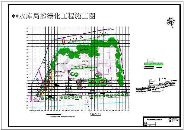 游园绿化工程的施工图CAD图纸图纸弹弓木头尺寸大全图片