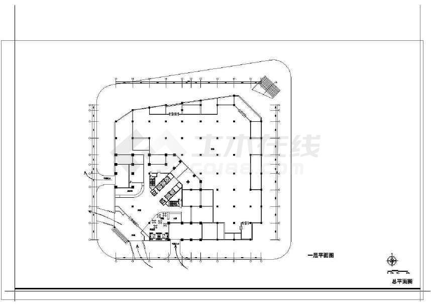 某地小型百货商场建筑cad设计图