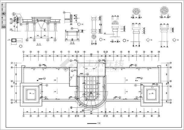 某土地房屋交易中心建筑设计图-图七