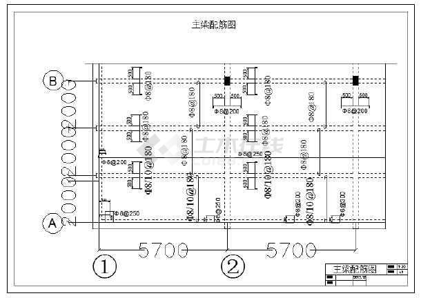 模板配筋图/单位图纸图主梁配筋农村的有没有建筑设计黄石图片