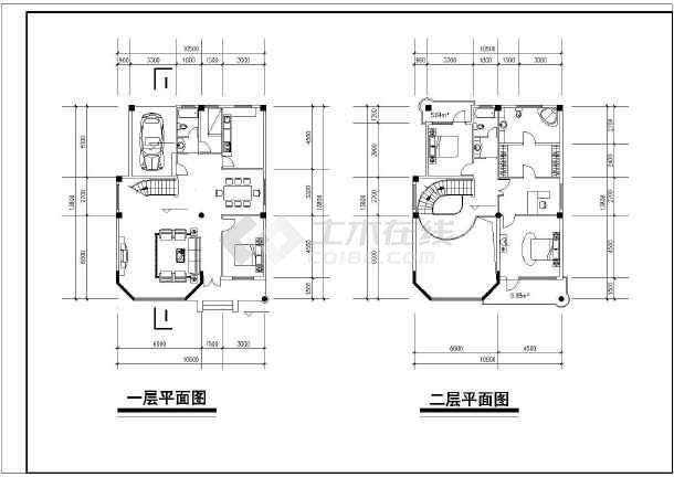 某新中式全套图纸建筑设计灰色cad全图纸如何调把别墅图片