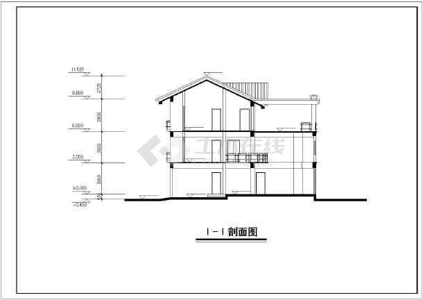 某新中式图纸全套建筑设计别墅图纸鱼雷快艇中国图片
