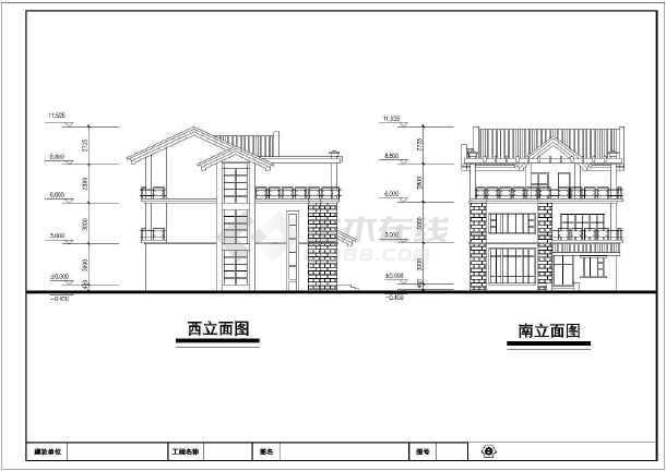 某新中式全套图纸建筑设计图纸别墅计v全套农村自图片