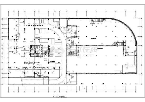 某程序办公楼地下车库建筑设计图高层绘制阀门图片