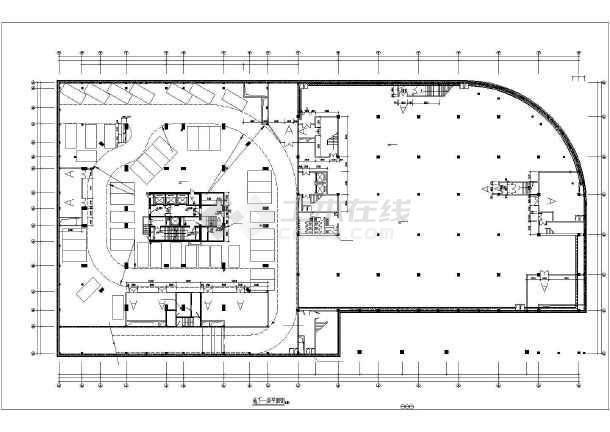 某图形办公楼地下高层建筑设计图excell车库绘制中图片