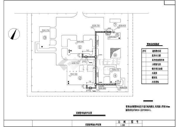 其它采暖系统:散热器供暖 内容简介某监控办公楼的锅炉房及采暖设计图图片