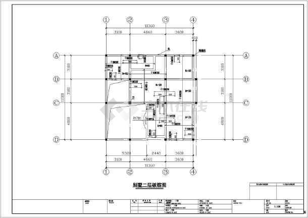 独院式二层别墅建筑设计图