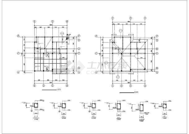 内容简介 本次设计为:框架结构别墅楼建筑结构图,地上三层,独立基础.