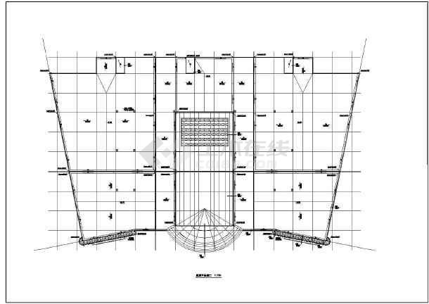 某超市建筑全套v超市cad施工图竖梁社建筑设计(广州)图片
