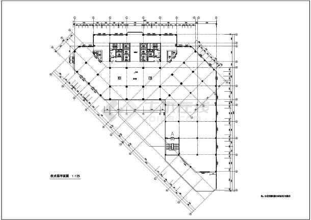 某市人民医院病房住院楼建筑设计图图片