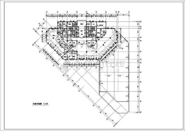 东阳市某人民医院病房楼建筑设计方案平面设计参加v医院图片