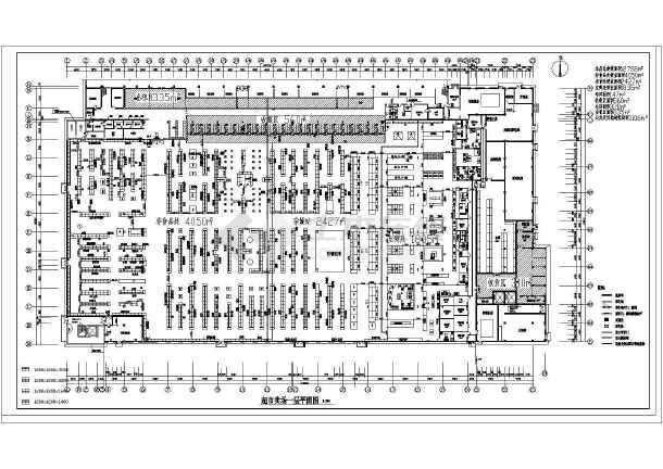某大型超市建筑设计平面图adobe设计师中国认证平面图片