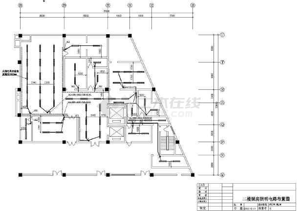 一楼厨房动力电路布置图,一楼厨房动力,照明系统图等内容详实,可供
