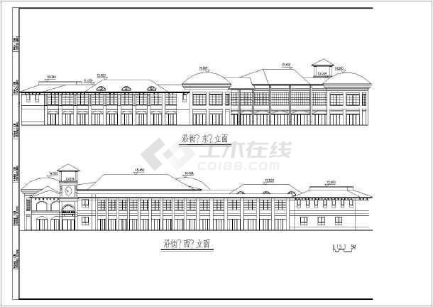 本资料为欧式会所建筑设计方案图(共6张),其包含的内容为屋顶平面图
