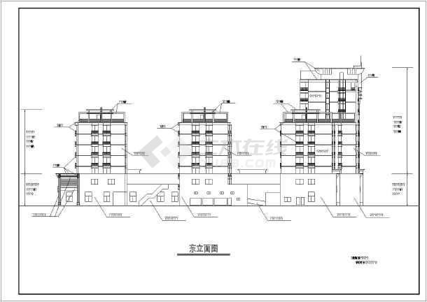 多层商住楼建筑设计立面图