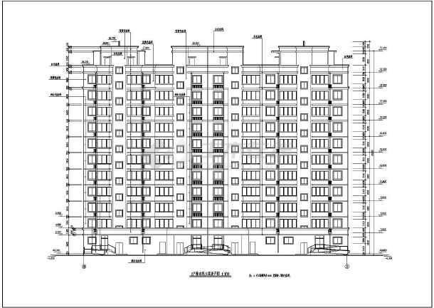 某小区住宅楼建筑设计立面图