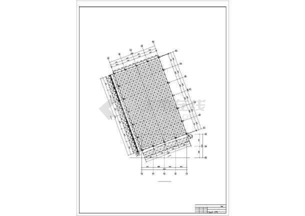 某学生食堂网架工程结构设计图