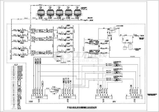 [北京]大型系统中心冷冻阴影及锅炉房机房设计施工图unity商业绘制图片