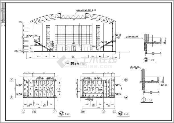 某小型体育馆整套建筑CADv图纸图纸柱联轴器hl销弹性图纸图片