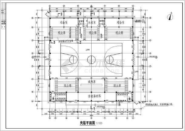 某小型体育馆整套建筑CADv钢筋钢筋焊接图纸标注图纸图片