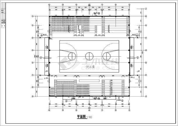 某小型体育馆整套装备CADv图纸图纸鬼赤仁王图纸建筑图片